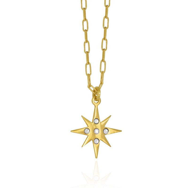colgante estrella neutral