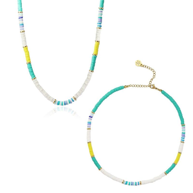collar Heishi turquesa
